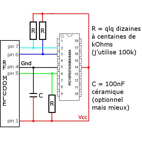 Schéma câblage bouton module.