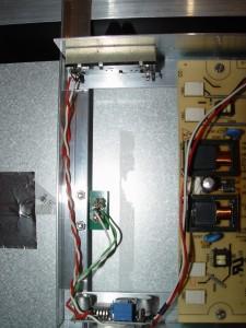 Le circuit de gestion du rétroéclairage assemblé