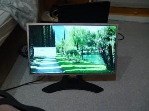 Mon nouvel écran pendant sa phase de test
