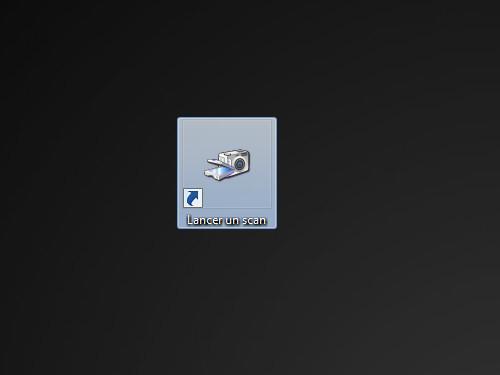 Sous Windows, il est possible d'accéder à l'outil de numérisation avec un simple raccourci sur le bureau